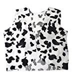 The Dragons Den Adult Black & White Cow Print Cowboy Cowgirl Waistcoat Woody Fancy Dress [S/M]