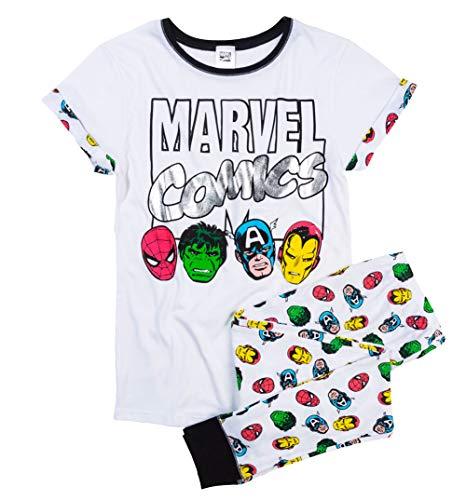 Marvel Comics Heroes Damen Schlafanzug, 44-46