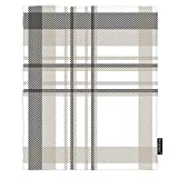 Moslion Plaid Blankets 40x50 Inch Vintage Gingham Buffalo Check in Dark Gray Taupe White Throw Blanket Fuzzy Flannel Picnic Blankets Home for Sofa Pet Dog Cat