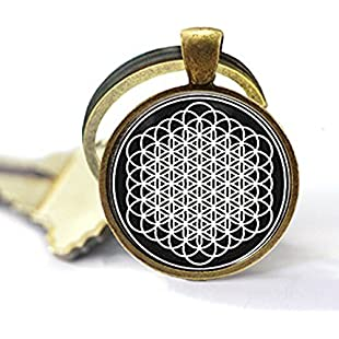 nijiahx Bring Me The Horizon Sempiternal Flower of Life Keychain