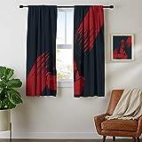Cortinas para oscurecimiento de la sala de estar, cortinas para ventana Vengadores Deadpool, resistentes a la decoloración, 84 x 84, lavable a máquina