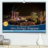 Das farbige Singapur - Marina Bay bei Nacht (Premium, hochwertiger DIN A2 Wandkalender 2022, Kunstdruck in Hochglanz): Diese Farbenpracht rund um die Marina Bay ist atemberaubend. (Monatskalender, 14 Seiten )