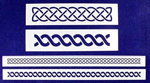 Celtic Knot 4 Piece Border Stencil Set