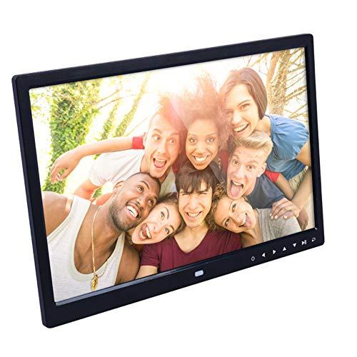 TLgf 15,4-Zoll-Digital-Bilderrahmen-HD-LED-Bild-Video-Rahmen mit HD-Fotorahmen-Wandhalterungsanzeige-Video-Werbemaschinenbroschüre,Black
