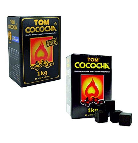 Tom Cococha Kohle Set je 1kg Gold und 1kg Gelb Shisha-Kohle
