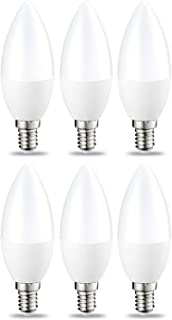 Amazon Basics E14 LED Lampe, Kerzenform, 5.5W (ersetzt 40W), warmweiß, 6er-Pack