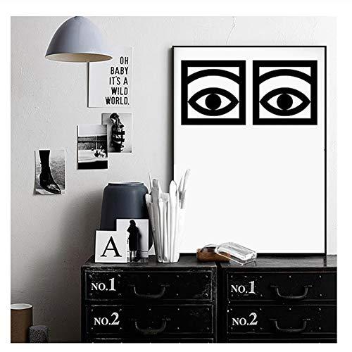 Olle Eksell Eyes Cacao Poster Lienzo impresión del Arte decoración del hogar Eyes Minimal Art Design Cacao Canvas Painting Wall pictures-50x70cm Sin Marco