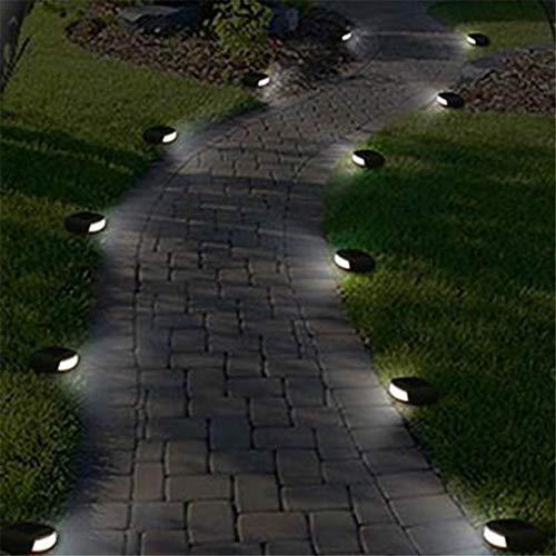 JIASHU 10pcs Luce della Roccia ad energia Solare, faretti per Giardini paesaggistici Esterni con luci in Pietra Impermeabili da Giardino, Roccia del Paesaggio del vialetto del Percorso del Cortile