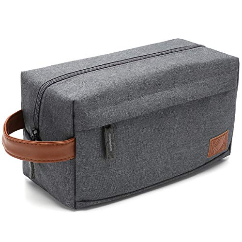KK Toiletry Bag for Men and Women Travel Wash Bag Make up Cosmetic Bag Gym Shower Bag and Men Shaving Bag, with Durable Water Resistant Fabric Quality Zipper and Stitching.