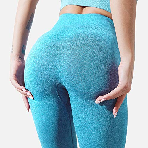 Leggings Leggings Fitness per Donna Leggins Push Up Senza Cuciture Mujer Gym Leggings A Vita Alta M Skyblue