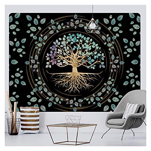 AdorabFruit Misterioso árbol de la Vida Decoración del hogar Tapicería Mandala Psicodélico Escena de la Pared Tapicería Bohemio Decorativo Sofá Manta Yoga Mat (Color : A21-254, Size : 150x130cm)