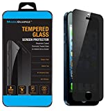 MagicGuardz, Made for Apple iPhone 5 5S 5C, Privacy Anti-Spy Tempered Glass Screen Protector Shield, Retail Box