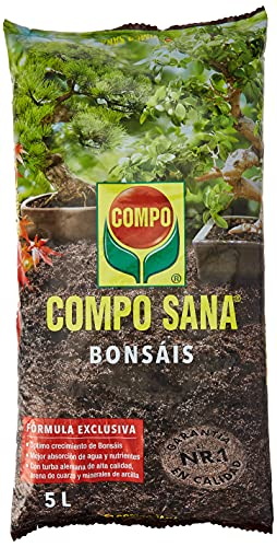 Compo Sana Bonsáis con 8 semanas de abono, de Interior y Exterior, Substrato de Cultivo, 5 L,...