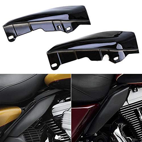 YOUNICER Schwarz Silber Hitzeschild Mid-Frame Air Deflector Trim für Harley Street Glide Motorrad Middle Deflector Zubehör