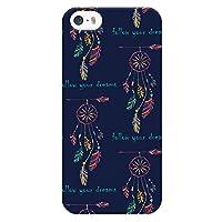 Ruuu iPhone5 iPhone5s iPhone SE 兼用 ハード ケース スマートフォン スマホ カバー ドリームキャッチャー ネイティブ イラスト ネイビー インディアン おしゃれ