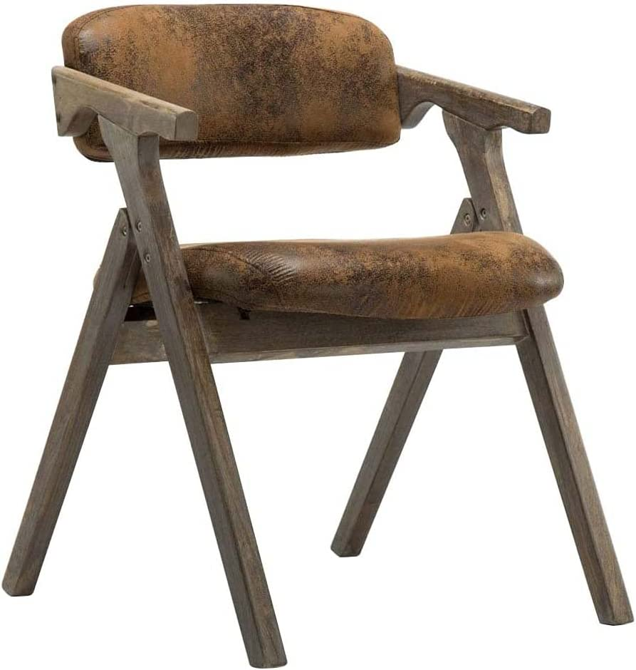 VERDELZ Dining Chairs New product! New type Suede Home Max 51% OFF Folding Backres Armchair