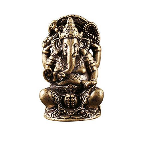 "2\""Mini Lord Ganesh Statue Ganesha Statue Hindu Elefant Figur in Premium Cold Cast Messing"