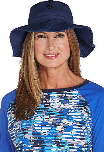 Coolibar Sombrero de Pesca para Mujer con protección UV, Mujer, 02355-410/S-M, Azul...