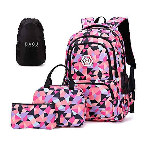 Schutzhülle Angeboten 4 Set Rucksack Kinder für Schule Kinderrucksäcke Schulranzen Schulrucksack Rucksäcke Daypacks Jungle Mädchen Schwarz 13 * 9.4 * 18.9''