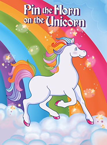 Pin the Horn On the Unicorn Game - Birthday Rainbow Party Supplies Poster for Kids(2 Kits))