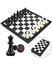 Peradix schackspel Magnetiskt vikbart schackbrädesschack för barn från 6 år