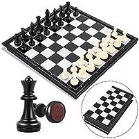 Peradix Echecs Jeu d'échecs Deluxe Pliable Echecs magnétique pour Enfants à partir de 6 Ans et Adultes