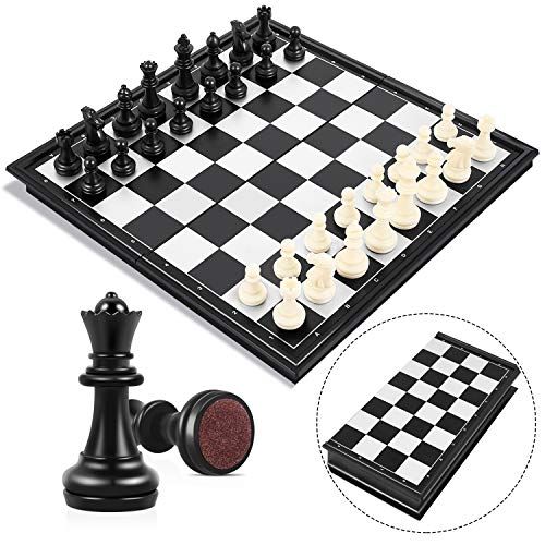 Peradix Tablero Ajedrez Magnético,Juego de ajedrez de Rompecabezas 25 X 25CM Plegable...