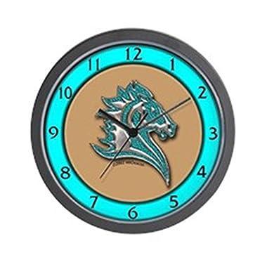 CafePress - Turquoise Horse Wall Clock - Unique Decorative 10  Wall Clock