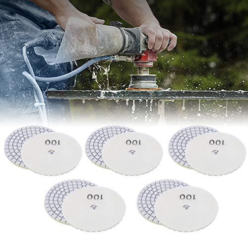 Discos de lijado, base de pulido, 10 piezas de placa de base de pulido de 3 pulgadas, almohadillas de pulido de diamante resistentes de tamaño compacto, para hormigón de piedra de mármol de