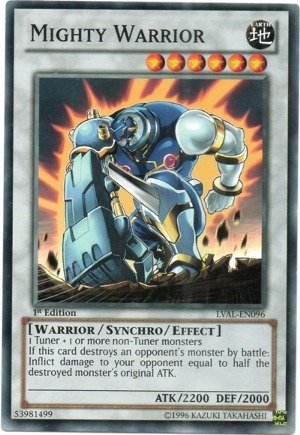YU-GI-OH! - Mighty Warrior (LVAL-EN096) - Legacy of The Valiant - 1st Edition - Common