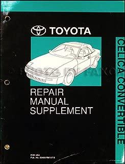 1991-1993 Toyota Celica Convertible Repair Shop Manual Original Supplement