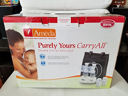 Ameda Purely Yours Ultra Breast Pump, Includes: Breast Pump, Dual HygieniKit System, Shoulder Bag, Cool'N Carry Milk Tote, AC Power Adapter, Car Charging Adapter, Milk Storage Bottles, Ice Packs