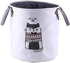 RoseSummer Cartoon Animal CanvasâLaundry Hamper Portable Clothes Storage Basket (Felinae)