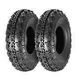 Set of 2 MaxAuto 23x7-10 23x7x10 Sport ATV Tire AT UTV Knobby Tires Front Tire, 6PR, Tubeless