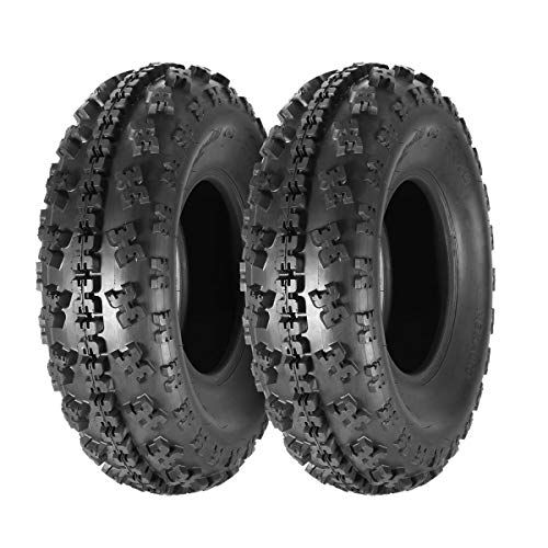 Set of 2 MaxAuto 23x7-10 23x7x10 Sport ATV Tire AT UTV Knobby Tires Front Tire, 6PR, Tubeless