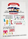 DISOK Impresión sobre Lienzo Regalos para Profesores Gracias PROFE - Regalos Originales para Profesores y Profesoras, Recuerdo de los Alumnos con Frases Divertidas 100% Original y Exclusivo