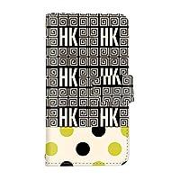 スマQ Rakuten Mini C330 国内生産 カード スマホケース 手帳型 Rakuten 楽天 ラクテン ミニ 【B-イエロー】 葛飾北斎 ドット HK パターン ami_hokusai-003-camel