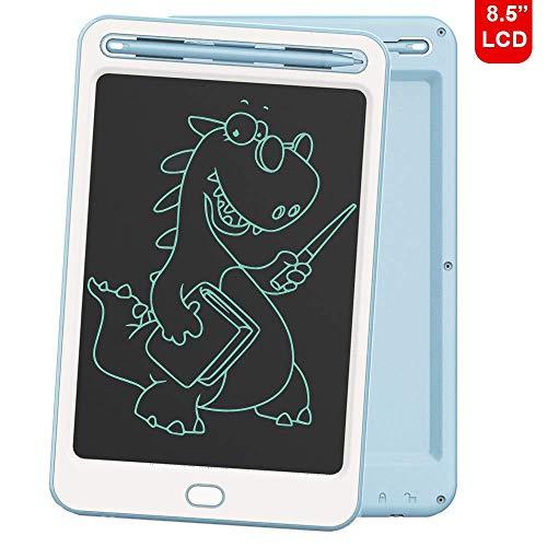 Richgv LCD Schreibtafel Kindertafel 8.5 Zoll, LCD Writing Tablet Kinder Schreibplatte Digital Schreibtafel Papierlos Grafiktablet Tabletten Geschenke Spielzeug für Zeichnen/Schreiben (Blau-A)