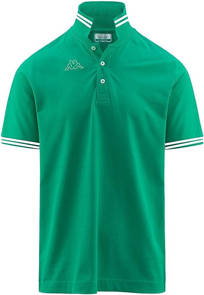 Kappa polo maglietta a maniche corte da uomo in cotone Green Peacock