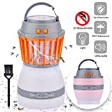 Hisome - Farol antimosquito portátil 2 en 1 Noche Recargable Zapper Mosquito Mosquito Impermeable para Camping, 2