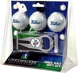 NCAA Tulsa Golden Hurricane - 3 Ball Gift Pack with Hat Trick Divot Tool