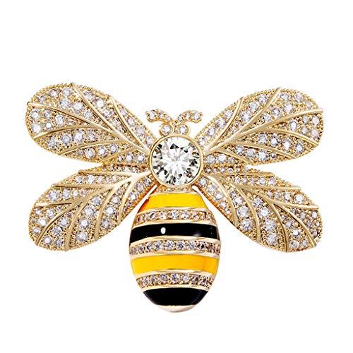 Tingting1992 Alfileres de Broche Little Bee Broche Accesorios Mujer Coat Ramillete Pin de la Manera Coreana atmosférica Rebeca del suéter de la decoración Simple Broches