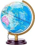 Globes du Monde pour Enfants-Globe du Monde éducatif Avec Support pour adultes de Bureau Globes géographiques de découverte Globe du Monde pour Les Enfants-jouet d'apprentissage de la géogra