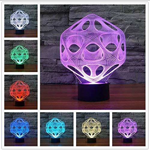 Led Desk 3D Lamp Table Lamp 1Piece Multi-Colored 3D Millennnium Falcon Light Wood Mood Lamp Lighting Gadget
