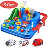 CubicFun Race Tracks for Boys Car Adventure Toys for 4 5 6 7 8 Year Old Boys Girls, City Rescue Engineering...