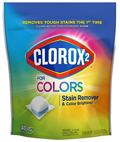 Clorox 2 Laundry Stain Remover and Color Booster Packs Laundry Packs 40 Count