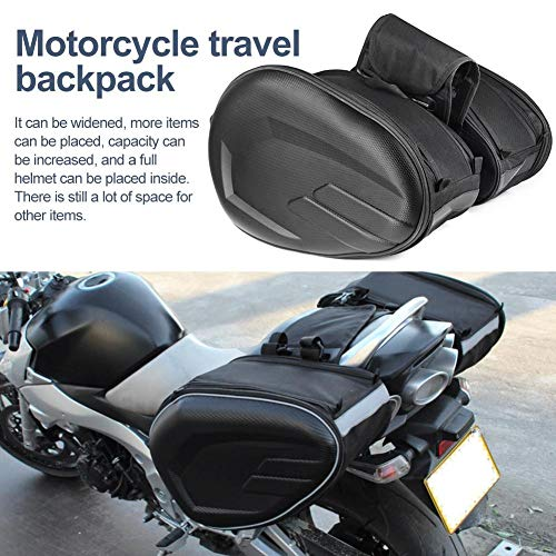 knowledgi Borse Laterali Moto - Impermeabile Borse Laterali Moto universali,Borse Moto Laterali & Borsa Moto Posteriore,Pacchetto Coda Moto di Grande capacità