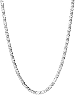 NYC Sterling Unisex Italian 3.5mm Miami Cuban Curb Link Thick ITProLux Solid 925 Necklace Chain 16