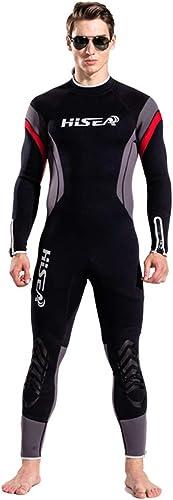 SOMESUN Nouveau Combinaison de Plongée Homme à Manche Courte Anti-UV Super Extensible 5MM Stretch Combinaison de Plongée Back Zip Wetsuit
