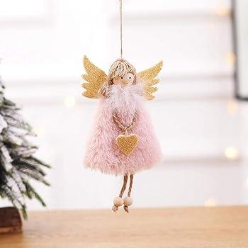Chou Set di 6 Angeli da Appendere sospeso in Camera Regalo di Natale per Bambina Soggiorno Finestra